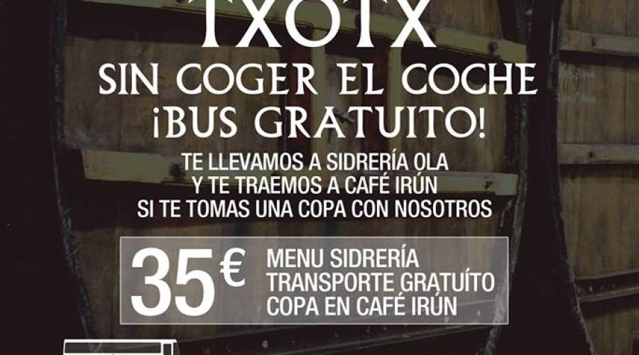 TXOTX con bus gratuito